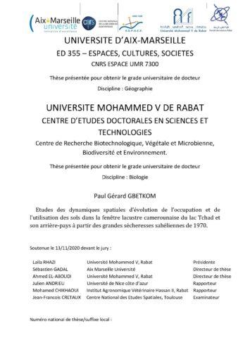 Soutenance de thèse / Paul Gérard GBETKOM