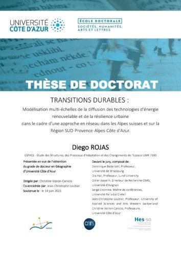 Soutenance de thèse / Diego Rojas-Angulo